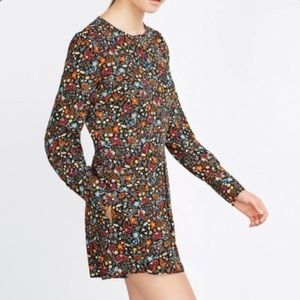Zara long sleeves floral fall rompers size M